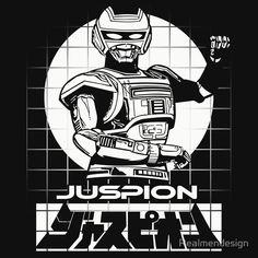 'Classic Tokusatsu Metal Heroes Series Kyojuu Tokusou Juspion Jaspion ' T-Shirt by Realmendesign Desenho Do Power Rangers, Cosmic Art, Cool Robots, Mecha Anime, Old Comics, Super Robot, Psylocke, Posca, Dark Night