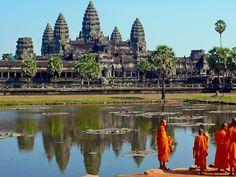 Angkor Archaelogical Park in Siĕmréab, Siem Reap