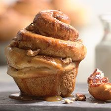 Caramel-Nut Cinnamon Buns – Towering, peaked cinnamon buns drizzled with caramel.