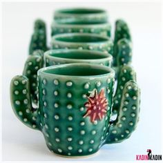 - Succulent Espresso Cup - Handmade Ceramic Pottery - MADE TO ORDER I love this handmade Cactus Shot Glass Cup from Back Bay Pottery!I love this handmade Cactus Shot Glass Cup from Back Bay Pottery! Cerámica Ideas, Pottery Classes, Pottery Making, Cacti And Succulents, Clay Projects, Ceramic Pottery, Ceramic Mugs, Slab Pottery, Pottery Vase