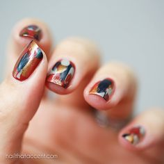 Easy Fall Nail Art – No Tools Required