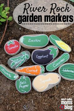 Learn how to make garden markers out of river rocks.