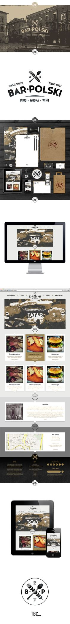 Bar Polski by Gustaw Dmowski, via Behance #identity #packaging #branding #marketing PD