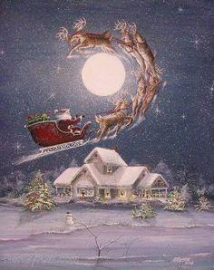 belles images anim e noel new - Page 21 Vintage Christmas Images, Old Fashioned Christmas, Christmas Scenes, Christmas Past, Father Christmas, Retro Christmas, Christmas Pictures, Christmas Greetings, Winter Christmas