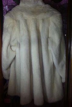 Vintage Designer White Mink Fur Coat Stroller Stunning! Winter Bride  Sz. 12-14