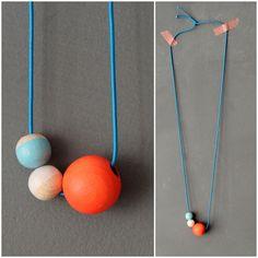 diy // wood bead necklace