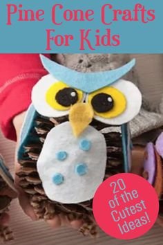 Pine cone crafts are perfect for fall! Make pine cone decorations or just have a great time crafting with your kids.Here are 20 EASY ideas – plus scroll down to the bottom of the post to get a bonus idea. You can watch a video of how to make a pine cone bouquet! Pinecone Crafts Kids, Pine Cone Crafts, Diy For Kids, Crafts For Kids, Pine Cone Decorations, Pine Cones, Your Favorite, Diy Ideas, Bouquet