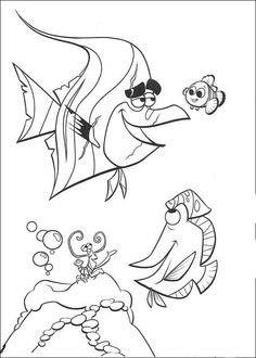 Disegni da colorare per bambini. Colorare e stampa Alla ricerca di Nemo 41