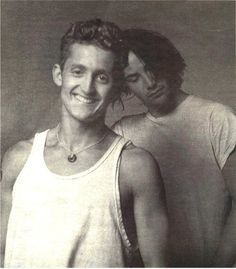 Alex Winter and Keanu Reeves, promotional shot for Bill and Ted's Bogus Journey (1991)