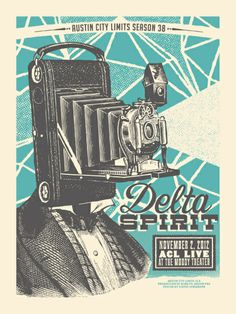 poster designer: Status Serigraph // location: Acl Live At The Moody Theatre, Austin TX, 2012, band: Delta Spirit // found on Gig Posters