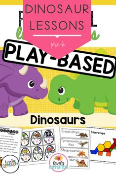 Does a dinosaur ROAR? You bet he does!In this one lesson plan pack, get 2 weeks worth of lesson plans to help you dig deeper into the theme. You also get a Center's Guide and ideas/materials needed to incorporate the theme into classroom centers to help young children learn the way they were created to learn- through play! Preschool Lesson Plans, Preschool Math, Kindergarten, Learning Activities, Kids Learning, Early Reading, Phonological Awareness, Early Literacy, Learning Through Play