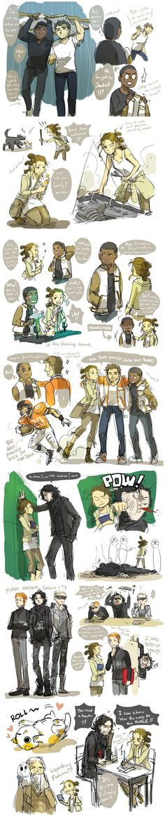 Force awakens told by highschool comic