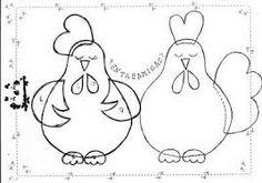 Resultado de imagen para moldes para hacer gallina