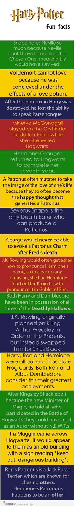 Harry Potter Fun Facts | LOLBRARY.COM