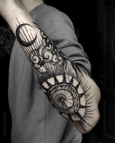 Dmitry Tkach forearm black tattoo