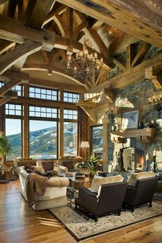 40 Awesome Rustic Living Room Decorating Ideas