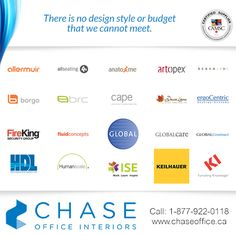Are you looking for stunning reception or lounge office furniture? At Chase, we represent over 40 of the best commercial manufacturers in the world! For more information, please call 1 877 922 0118