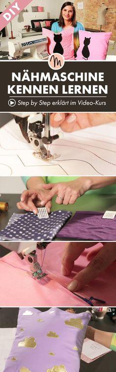 Lernt eure Nähmaschine kennen - Step by Step erklärt im Video-Kurs via Makerist.de