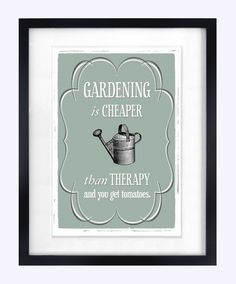 Gardening Print / Poster Gardening Quote Poster by oflifeandlemons