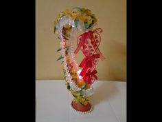 Best Out Of Waste Plastic Oil Can transformed to Fabulous Showpiece with LED light Recycled Bottles, Recycle Plastic Bottles, Recycled Crafts, Diy And Crafts, Arts And Crafts, Plastic Bottle Flowers, Beautiful Butterflies, Plant Hanger, Diy Gifts