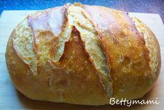 Kefíres-vadkovászos fehér kenyér | Betty hobbi konyhája Bakery, Food And Drink, Brot, Bakery Business, Bakeries
