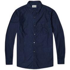 Spellbound Button Down Flannel Shirt (Indigo)