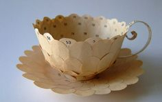 Beautiful paper teacups by Cecilia Levy