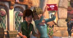 YES... Tangled/HTTYD crossovers are the bomb