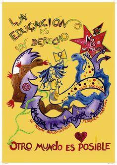 Afiche La Educación Es Un Derecho. Federica Matta