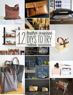 12 leather-inspired DIYs - I love the shelving idea! by EdithF