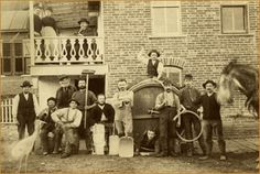 August Schell Brewing Company in 1885, New Ulm, Minnesota. GG uncle Werner was friends with August and managed to get his nephew, George, a job here when he first arrived in America