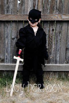 Princess Bride Westley Dread Pirate Roberts kids costume (via Lady Herndon on etsy)