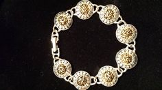 Gold and Silver Colored Bracelet by 3LittleWitches on Etsy