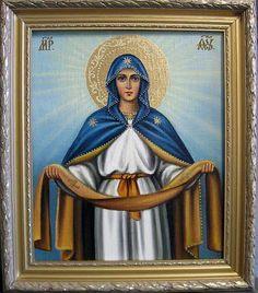 Покров Пресвятой Богородицы (холст,масло) - художник Ядвига Сенько