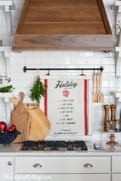 DIY Christmas tea towel