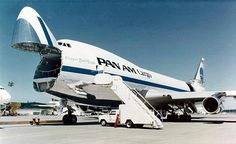 Clipper Cargo - Pan Am's Boeing 747 freighter | Do you also like design & architecture? Follow transreformas.com boards on pinterest.com/transreformas/