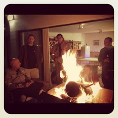 Nothing like sitting around a fire! Out on a Limb Charity Expedition at Amsterdamhoek Road, Bluewater Bay Beach, Port Elizabeth. - My June 2012 Port Elizabeth, Charity, June, Random, Awesome, Beach, Instagram, The Beach, Beaches