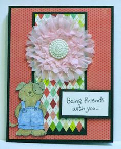 Inky Antics card featuring 11102SC Fabulous Flowers Honey Pop set for floral embellishment