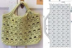 Crochet Bag: Models For Inspiration + Graphic + Video Lessons Free Crochet Bag, Crochet Purse Patterns, Crochet Clutch, Crochet Handbags, Crochet Purses, Crochet Bags, Japanese Crochet Bag, Crochet Vintage, Bag Pattern Free