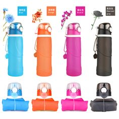colorful silicone water bottles,sports camping canteen 25 Oz