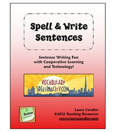 FREE Spell & Write Sentences ~ Do you like Spelling City? This packet shares cooperative learning strategies for having students write sentences using SpellingCity.com.