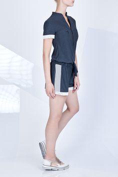 kombinezon z lampasem #ranitasobanska #grey #jumpsuit #lookbook #eshop