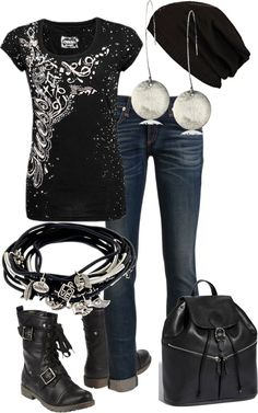 """I could be a rebel....."" by alison-louis-ellis on Polyvore"