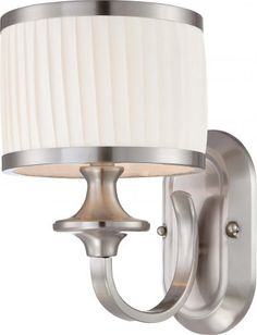 Nuvo 60 4731 Candice Brushed Nickel One Light Vanity By 65 40