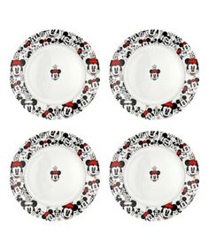 Minnie Heads Salad Plate - Set of Four