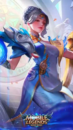 Wallpaper Lunox Cosmic Harmony Skin Mobile Legends Full HD for Android and iOS Mobile Wallpaper Android, Mobile Legend Wallpaper, Hero Wallpaper, Fantasy Warrior, Fantasy Girl, Fantasy Characters, Female Characters, Mobiles, Game Character