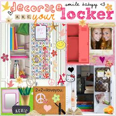 decorate your locker(: ♥ by the-polyvore-tipgirls on Polyvore