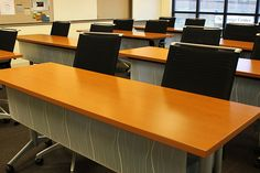 WaveWorks Flip/Nest Training Tables in training room.