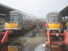 Trains at Platforms 6 & 7 Heuston Station Dublin.