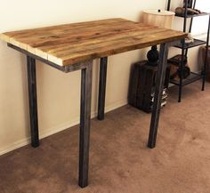 Reclaimed Wood Bar Table by AtlasWoodCo on Etsy